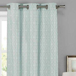 Home Maison Clarissa Mint Window Curtains Drapes